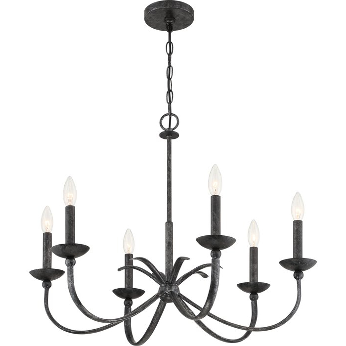 Newest Goodin 6 Light Candle Style Chandelier Throughout Perseus 6 Light Candle Style Chandeliers (View 13 of 30)