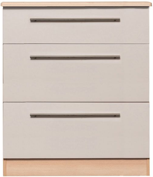 Newest Gosport Sideboards For Gosport Pale Wood & Linen White 3 Drawer Deep Chest (Gallery 13 of 20)