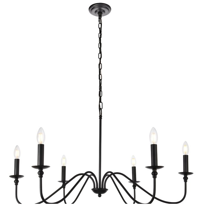Newest Hamza 6 Light Candle Style Chandelier Throughout Perseus 6 Light Candle Style Chandeliers (Gallery 14 of 30)