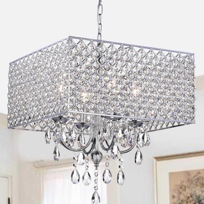 Newest Holford 4 Light Crystal Chandelier Intended For Sinead 4 Light Chandeliers (View 17 of 30)