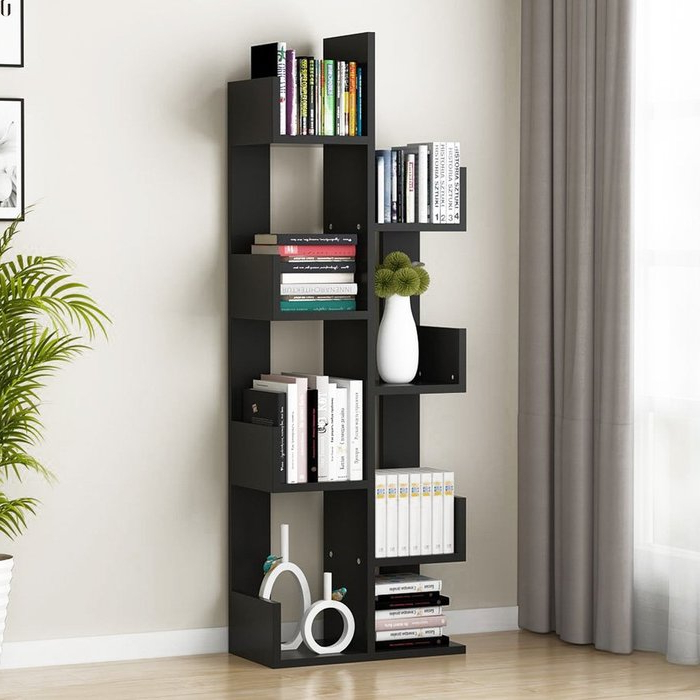 Newest Holli Tree Geometric Bookcase Inside Skaggs Geometric Bookcases (View 16 of 20)