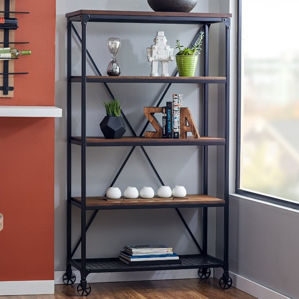 Newest Kilmersdon Etagere Bookcase Regarding Rocklin Etagere Bookcases (Gallery 4 of 20)