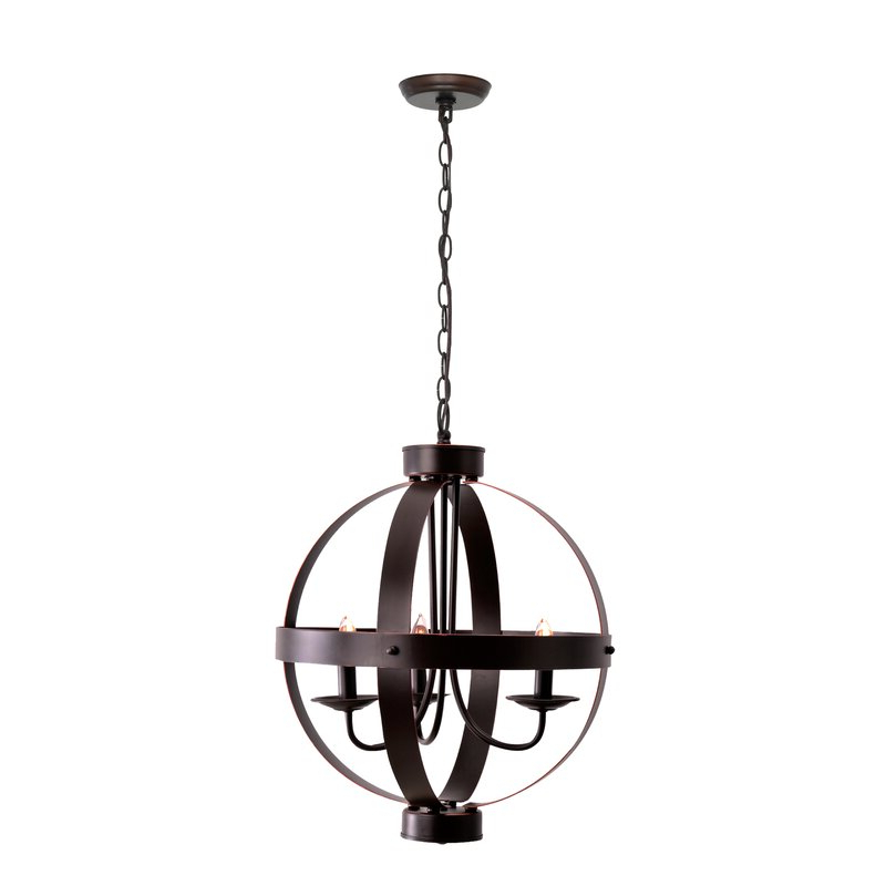 Newest La Barge 3 Light Globe Chandeliers Within La Sarre 3 Light Globe Chandelier (Gallery 8 of 30)