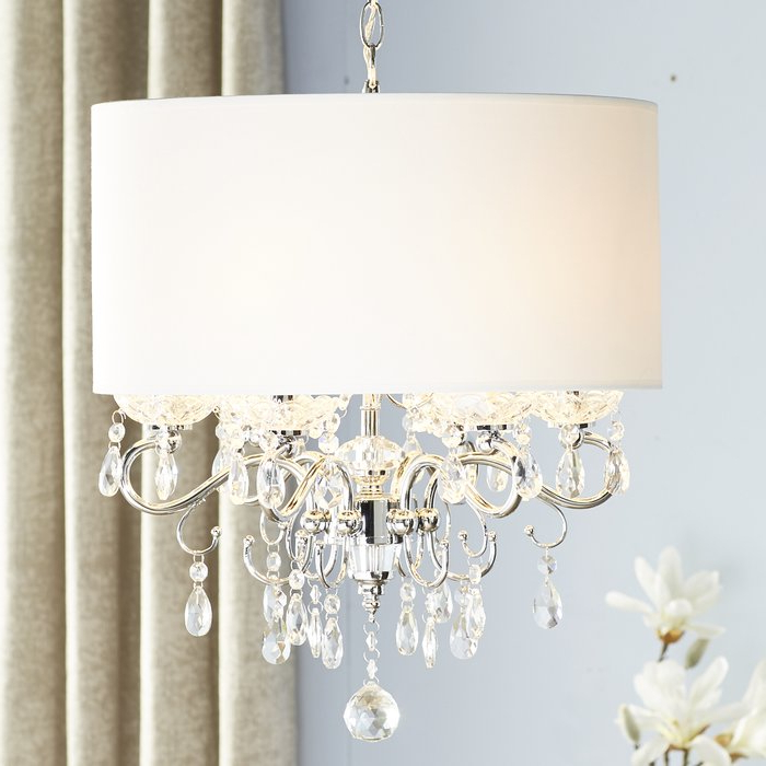 Newest Lindsey 4 Light Drum Chandeliers Intended For Hawkins 6 Light Drum Chandelier (Gallery 7 of 30)