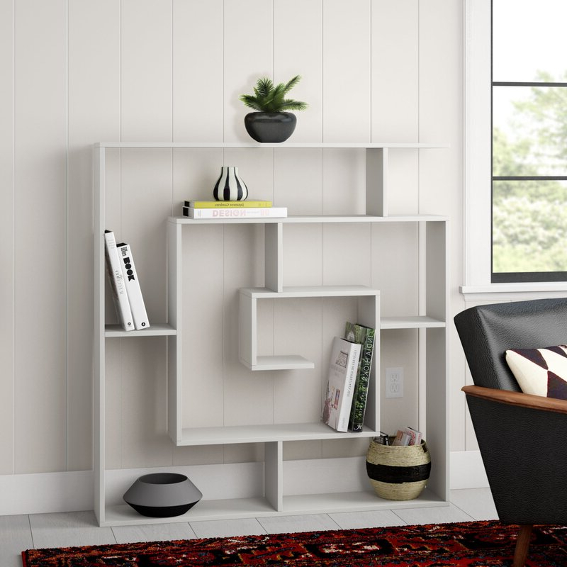 Newest Mckibben Geometric Bookcase For Vaccaro Geometric Bookcases (View 20 of 20)