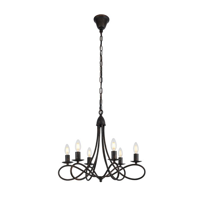 Newest Perseus 6 Light Candle Style Chandeliers Within Diaz 6 Light Candle Style Chandelier (Gallery 11 of 30)