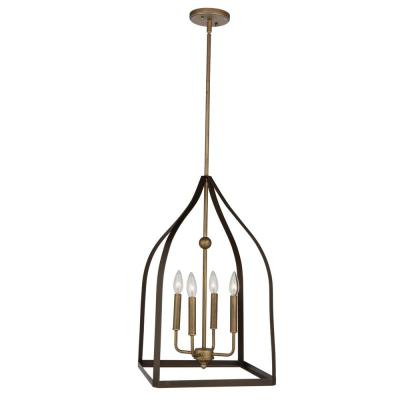 Newest Safavieh Craftsman 4 Light Antique Gold Chandelier Lit4184A Intended For Suki 5 Light Shaded Chandeliers (View 25 of 30)