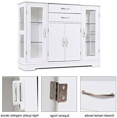 Newest South Miami Sideboards With Amazon – South Miami Server With Tempered Glass Doors (View 8 of 20)