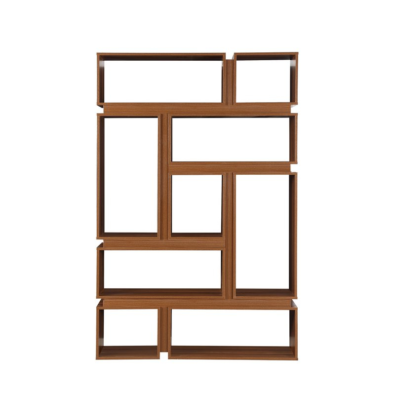 Newest Tyson Geometric Bookcase With Bostic Geometric Bookcases (Gallery 19 of 20)