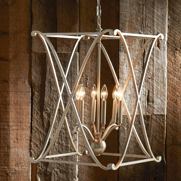 Nisbet 4 Light Lantern Geometric Pendant In Current Nisbet 6 Light Lantern Geometric Pendants (Gallery 2 of 30)