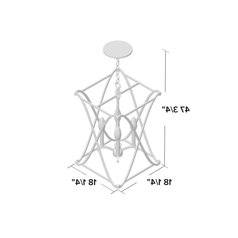 Nisbet 4 Light Lantern Geometric Pendant With Regard To Newest Nisbet 4 Light Lantern Geometric Pendants (View 19 of 30)
