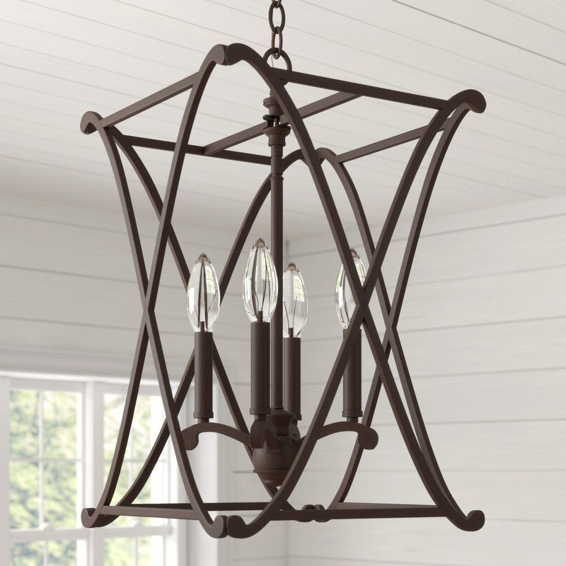 Nisbet 4 Light Lantern Geometric Pendant (Gallery 3 of 30)