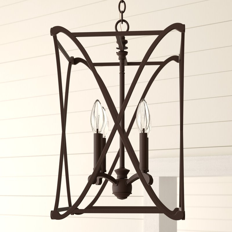 Featured Photo of Nisbet 6 Light Lantern Geometric Pendants