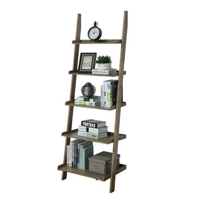 Noelle Ashlynn Ladder Bookcases Throughout Most Recently Released Noelle Ashlynn Ladder Bookcase & Reviews (View 7 of 20)
