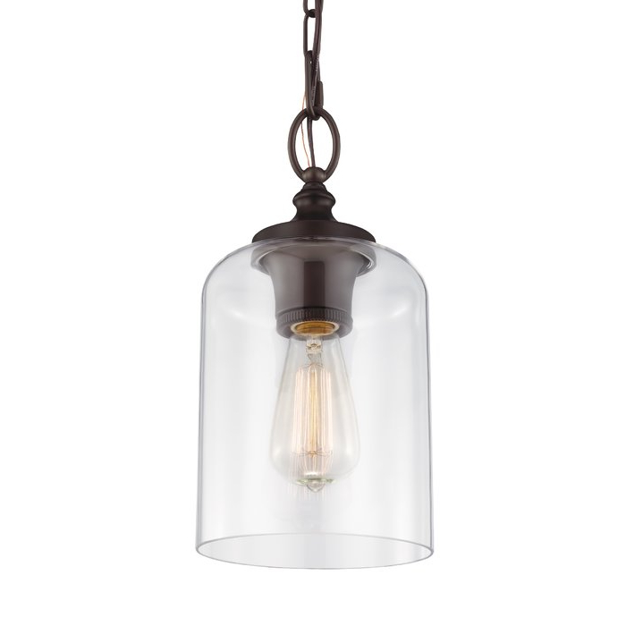 Nolan 1 Light Lantern Chandeliers For Widely Used Nolan 1 Light Single Cylinder Pendant (View 7 of 30)
