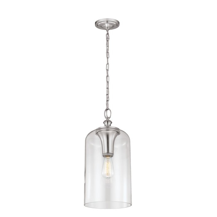 Nolan 1 Light Single Cylinder Pendant With Most Recent Nolan 1 Light Lantern Chandeliers (Gallery 9 of 30)