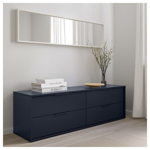 Nordmela 4 Drawer Dresser – Black Blue (Gallery 20 of 20)