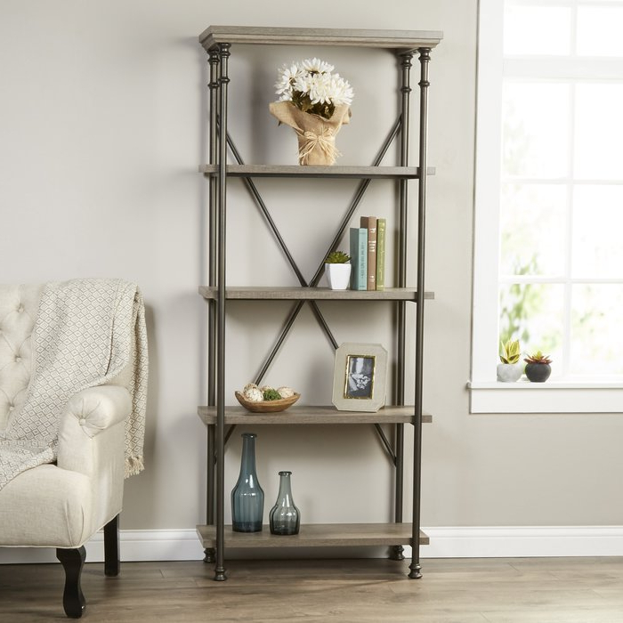Oakside Etagere Bookcase Regarding Most Recently Released Caldwell Etagere Bookcases (Gallery 6 of 20)