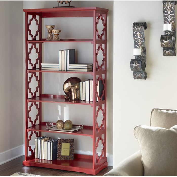 O'kean Etagere Bookcase Intended For Most Recent Ardenvor Etagere Standard Bookcases (Gallery 16 of 20)
