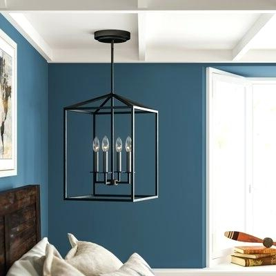 Odie 4 Light Foyer Pendant – Odiliazullo.co For Latest Odie 4 Light Lantern Square Pendants (Gallery 16 of 30)