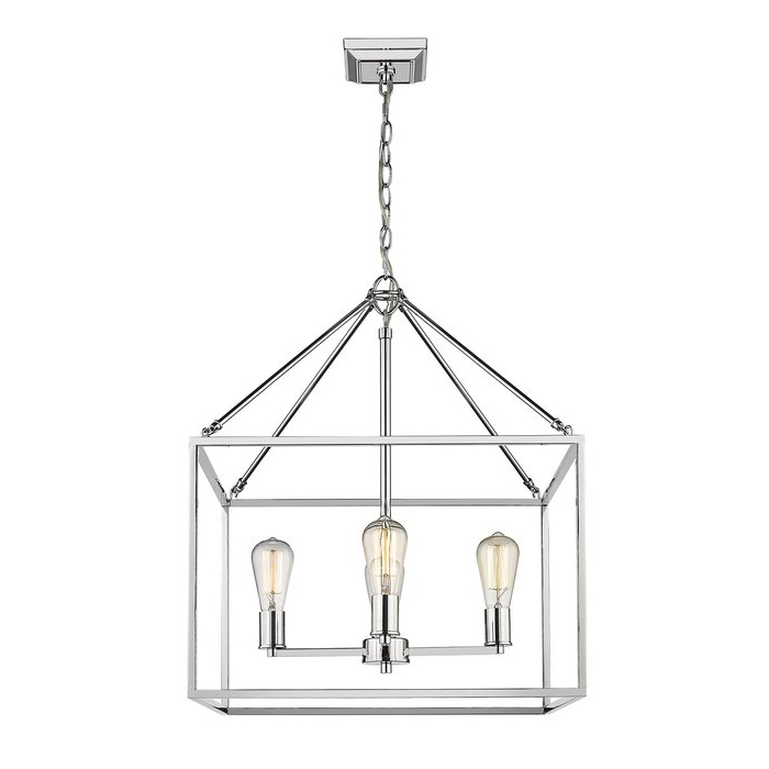 Odie 4 Light Lantern Square Pendants In Latest Zabel 4 Light Lantern Square / Rectangle Pendant (Gallery 10 of 30)