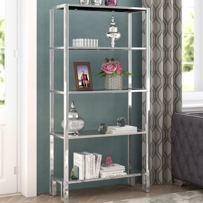 Olander Etagere Bookcase With Recent Hitz Etagere Bookcases (Gallery 18 of 20)