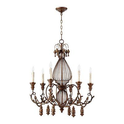 One Allium Way Paladino 6 Light Candle Style Chandelier Regarding 2020 Paladino 6 Light Chandeliers (Gallery 12 of 30)