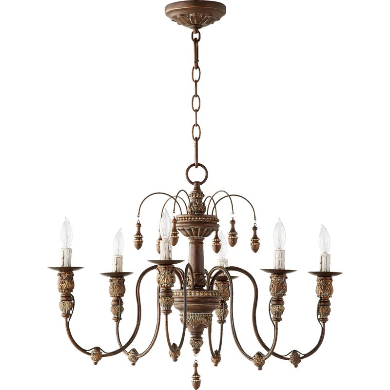 Paladino 6 Light Chandelier With Regard To Well Known Paladino 6 Light Chandeliers (View 3 of 30)