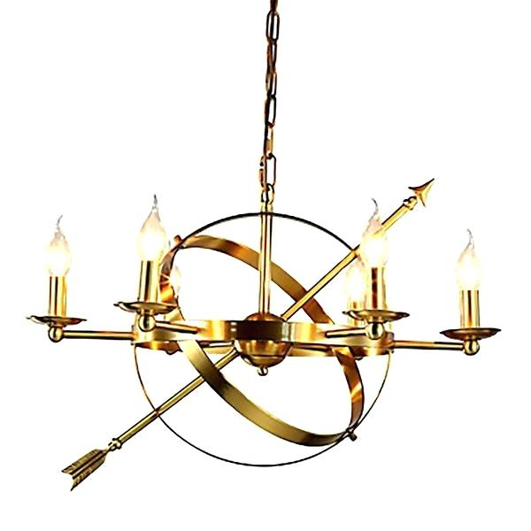 Paladino 6 Light Chandeliers With Fashionable 6 Candle Chandelier – Alesport (View 25 of 30)