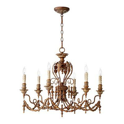 Paladino 6 Light Chandeliers With Popular One Allium Way Paladino 6 Light Chandelier (View 8 of 30)