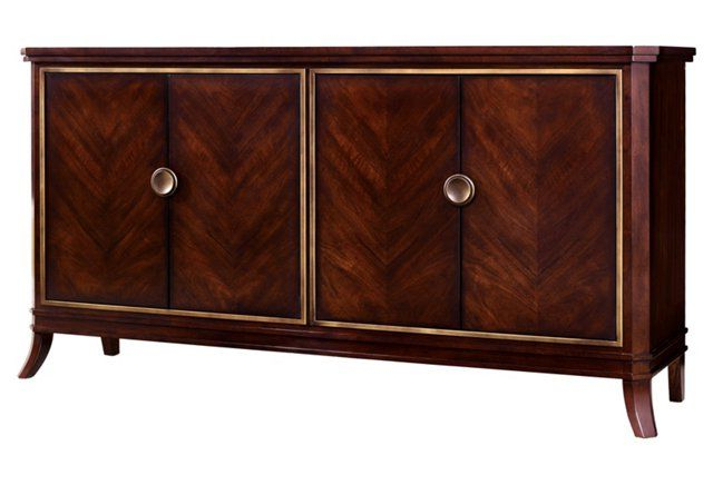 """Palisade Sideboards With Most Current Palisade 68"""" Sideboard, Brown/gold (View 3 of 20)"""