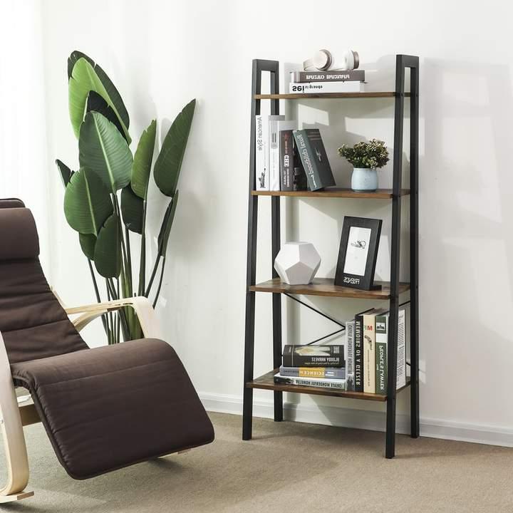 Parikh 4 Tier Ladder Bookcase In  (View 17 of 20)