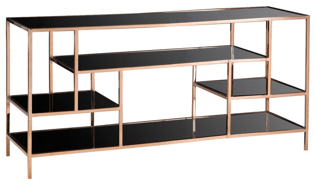Parker Modern Etagere Bookcases In Preferred Kelly Hoppen Miro Modern Classic Black Glass Mirrored Brass Shelving Etagere (View 8 of 20)