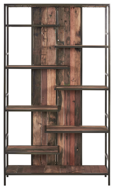 Parker Modern Etagere Bookcases Pertaining To Well Liked Modern Rustic Reclaimed Boat Wood Etagere / Bookcase – Ibiza Collection (View 12 of 20)