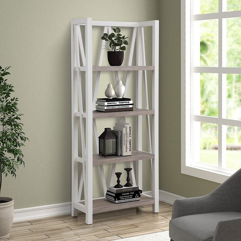 Parker Modern Etagere Bookcases With Well Known Americana Modern Etagere Bookcase (Cotton) (View 14 of 20)