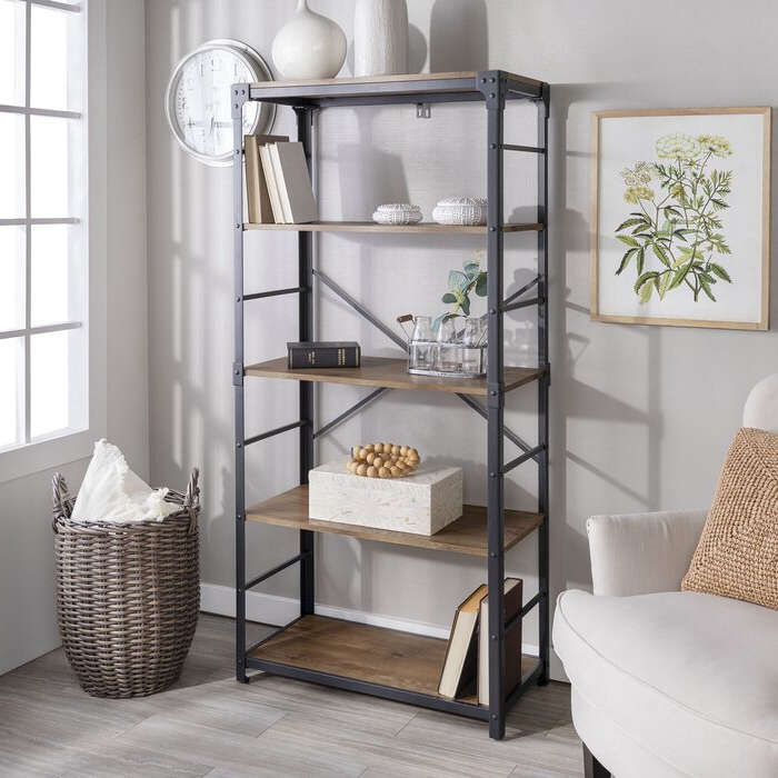 Parthenia Etagere Bookcases Pertaining To Most Popular Cecelia Etagere Bookcase (View 18 of 20)
