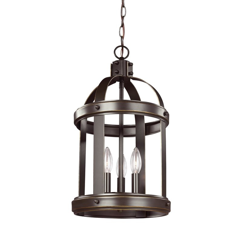 Pawling 3 Light Lantern Cylinder Pendant With Fashionable 3 Light Lantern Cylinder Pendants (View 24 of 30)