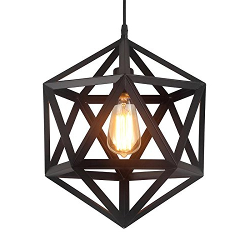 Pendant Style Lantern: Amazon With Most Current Louanne 1 Light Lantern Geometric Pendants (View 24 of 30)