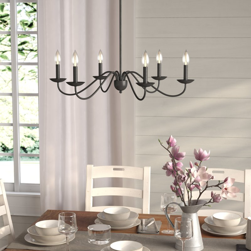 Perseus 6 Light Candle Style Chandelier Regarding 2019 Perseus 6 Light Candle Style Chandeliers (View 3 of 30)