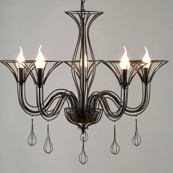 Perseus 6 Light Candle Style Chandeliers Intended For Most Current Cage Style Chandelier – Myrleservais (View 23 of 30)