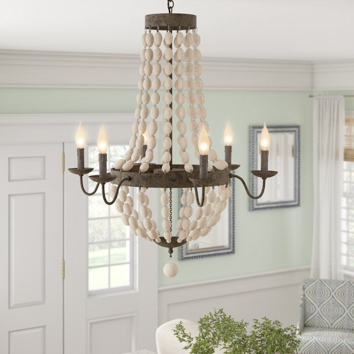 Phifer 6 Light Empire Chandeliers With Regard To Most Popular Bargas 6 Light Empire Chandelier In  (View 25 of 30)