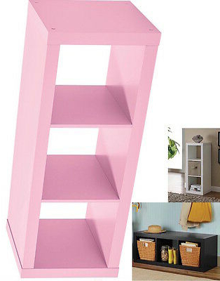 Pink 3 Cube Wood Storage Modern Shelf Bookcase Bookshelf Organizer Tv Stand In Most Popular Chastain Storage Cube Unit Bookcases (View 10 of 20)