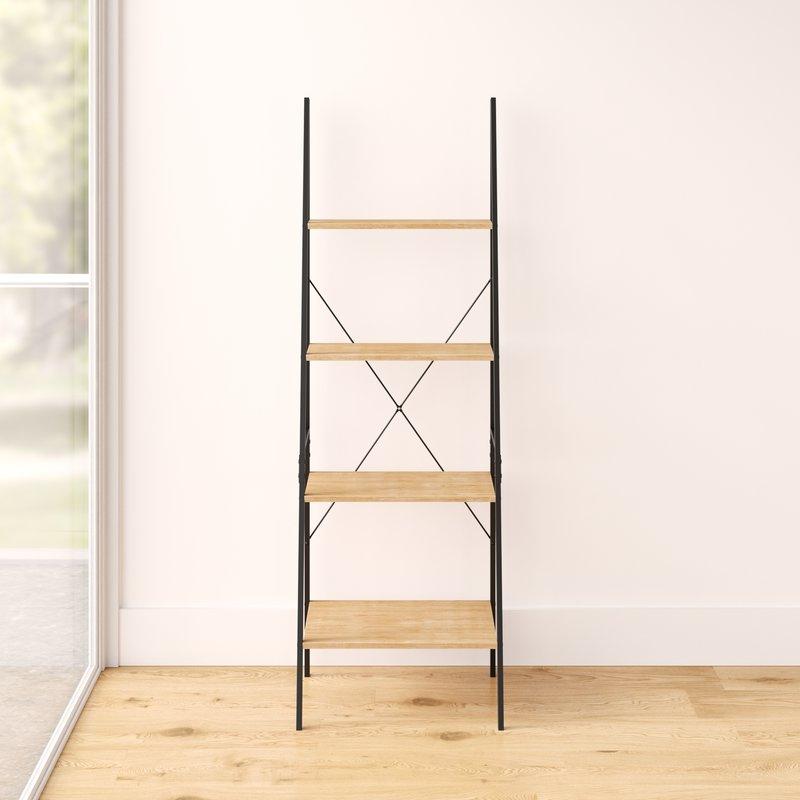 Popular Almanzar Ladder Bookcase With Regard To Almanzar Ladder Bookcases (View 14 of 20)