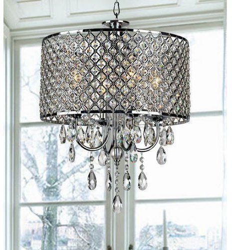 Popular Aurore 4 Light Crystal Chandelier In  (View 28 of 30)