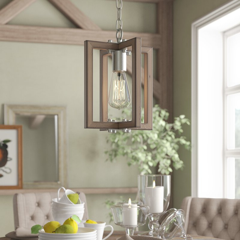 Popular Daugherty 1 Light Single Square/rectangle Pendant With Freeburg 4 Light Lantern Square / Rectangle Pendants (View 25 of 30)