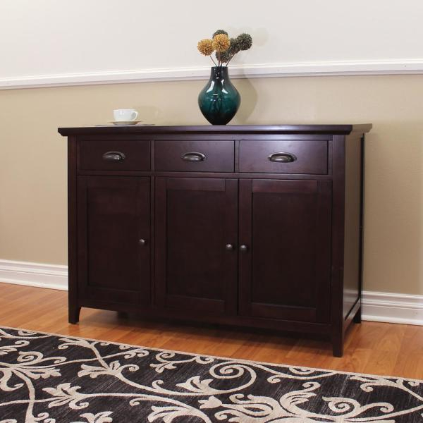 Popular Donnieann Lindendale Espresso Sideboard/buffet Table 714160 Within Phyllis Sideboards (View 12 of 20)