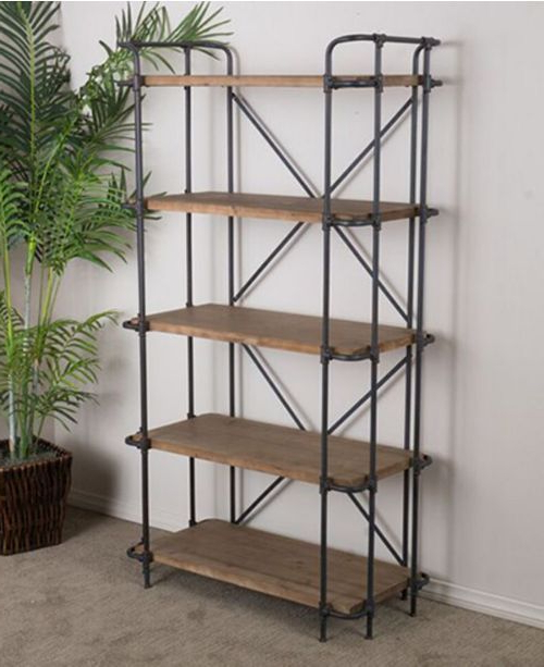 Popular Ebba Etagere Bookcases Regarding Beckert 5 Shelf Bookcase, Quick Ship In (View 18 of 20)