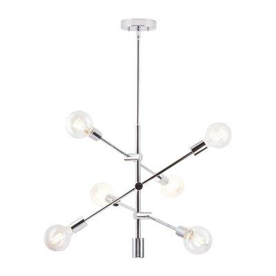 Popular Eladia 6 Light Sputnik Chandeliers Inside Turn On The Brights Eladia 6 Light Chandelier (View 27 of 30)