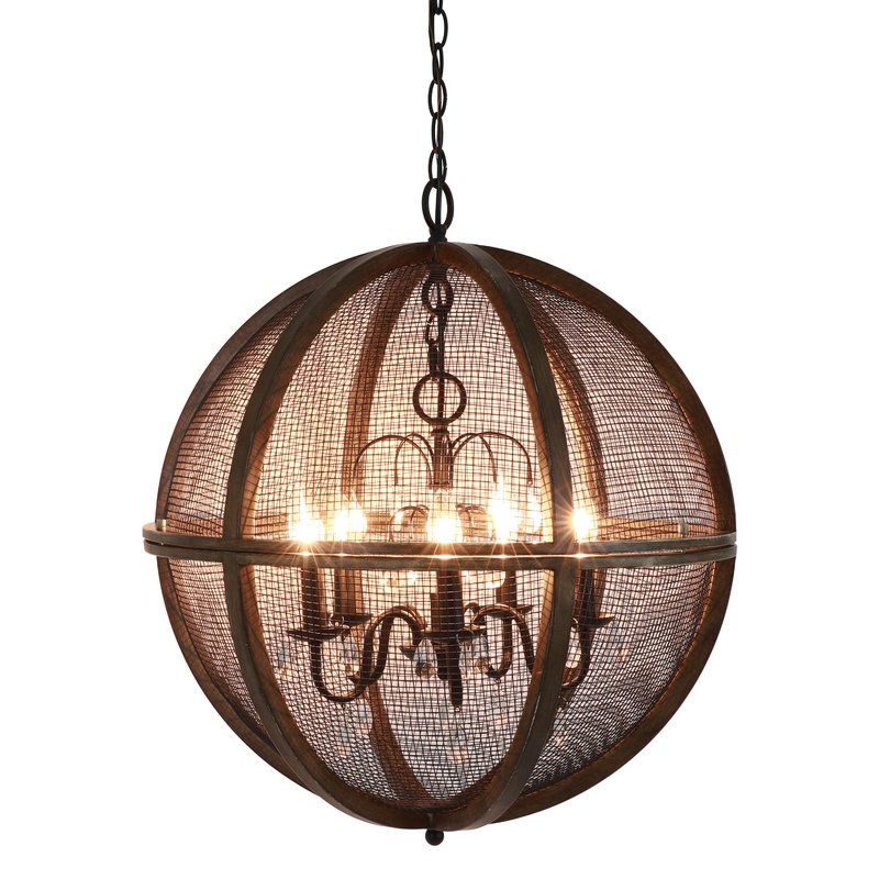 Popular Filipe Globe Chandeliers Throughout Frodsham 5 Light Globe Chandelier (View 23 of 30)