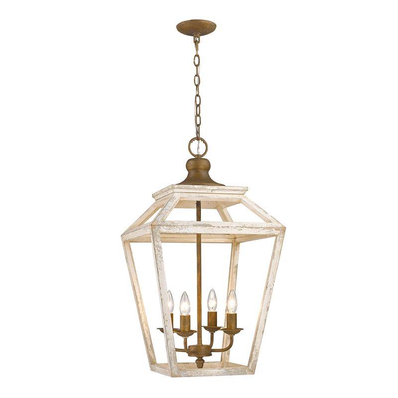 Popular Finnick 4 Light Foyer Pendants For Baugher 4 Light Lantern Geometric Pendant (View 24 of 30)
